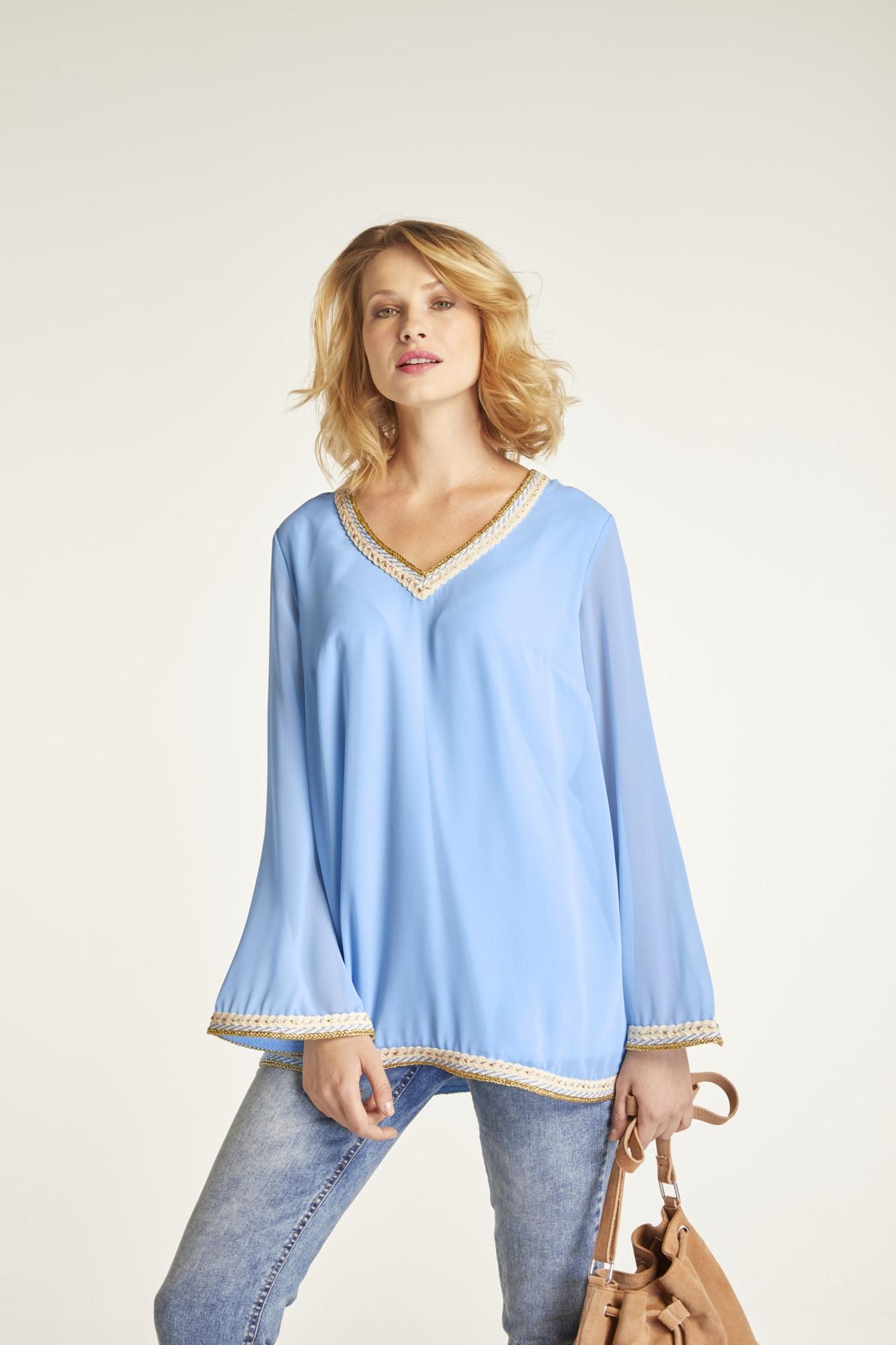 heine CASUAL Bluse mit dekorativen Zierbänder