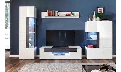 trendteam Wohnwand »Tokyo«, (Set, 4 tlg., 4-teiliges Set. Den TV-Aufsatz ist separat bestellbar 46475419.) kaufen