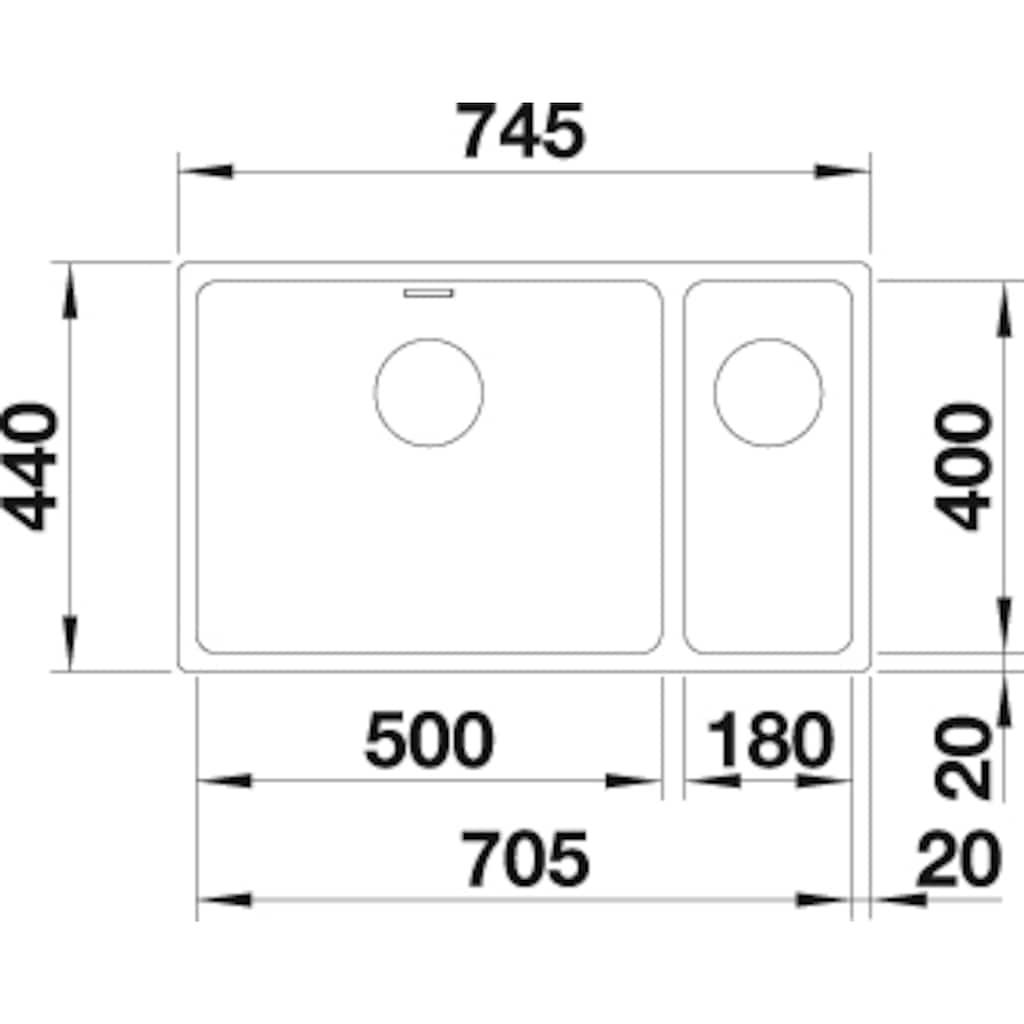 Blanco Küchenspüle »ANDANO 500/180-U«
