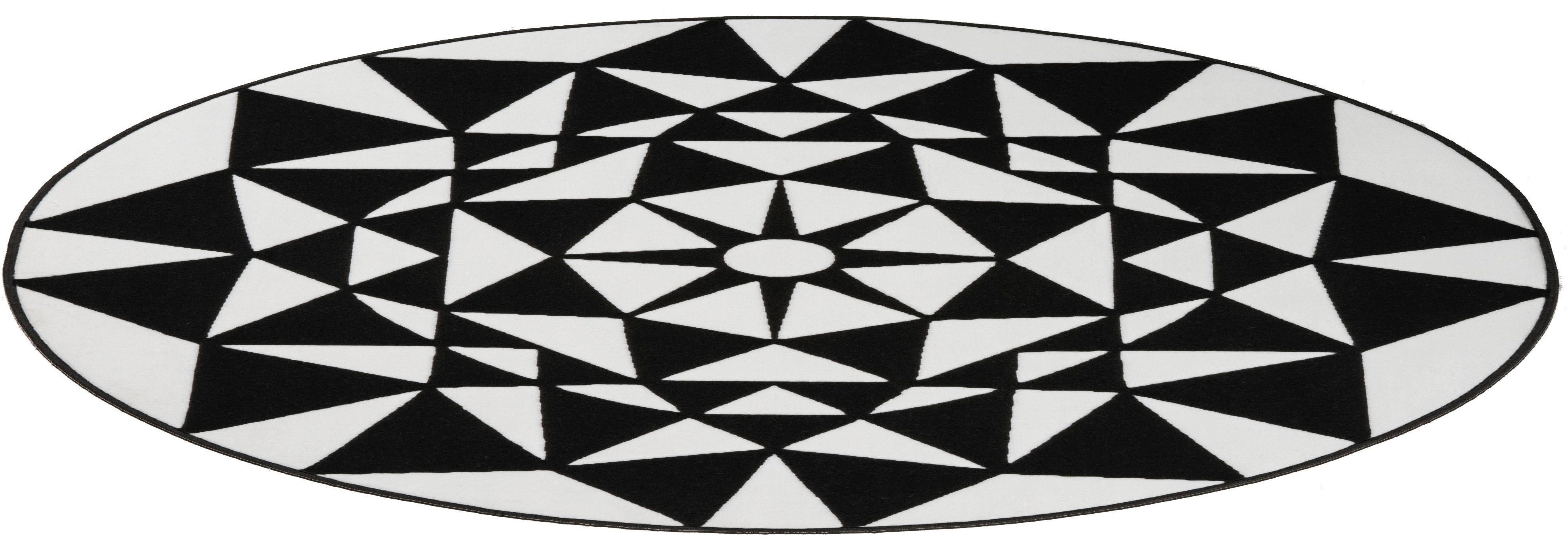 Teppich Franka my home rund Höhe 10 mm maschinell gewebt