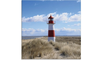 Artland Glasbild »Leuchtturm Sylt«, Gebäude, (1 St.) kaufen