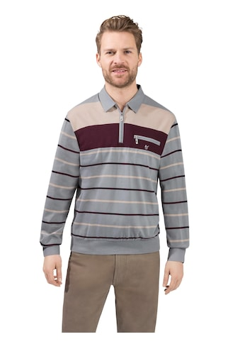 Hajo Langarm - Poloshirt in Streifen - Optik kaufen