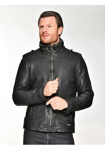 MUSTANG Lederjacke »Freeman-ff«, mit abnehmbarem Fake Fur Kragen kaufen