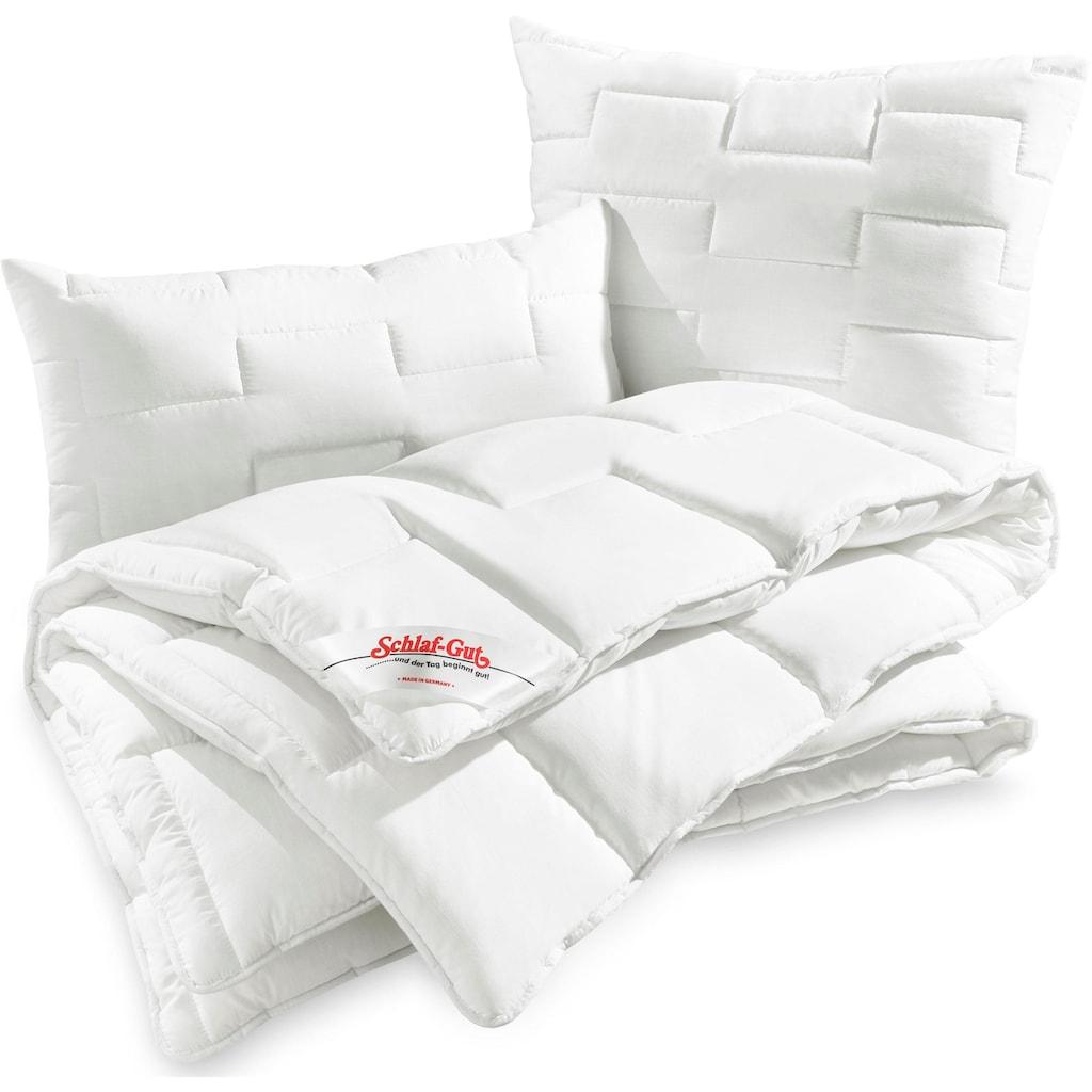Schlaf-Gut Kunstfaserbettdecke »Utah«, normal, Bezug 50% Baumwolle, (1 St.)