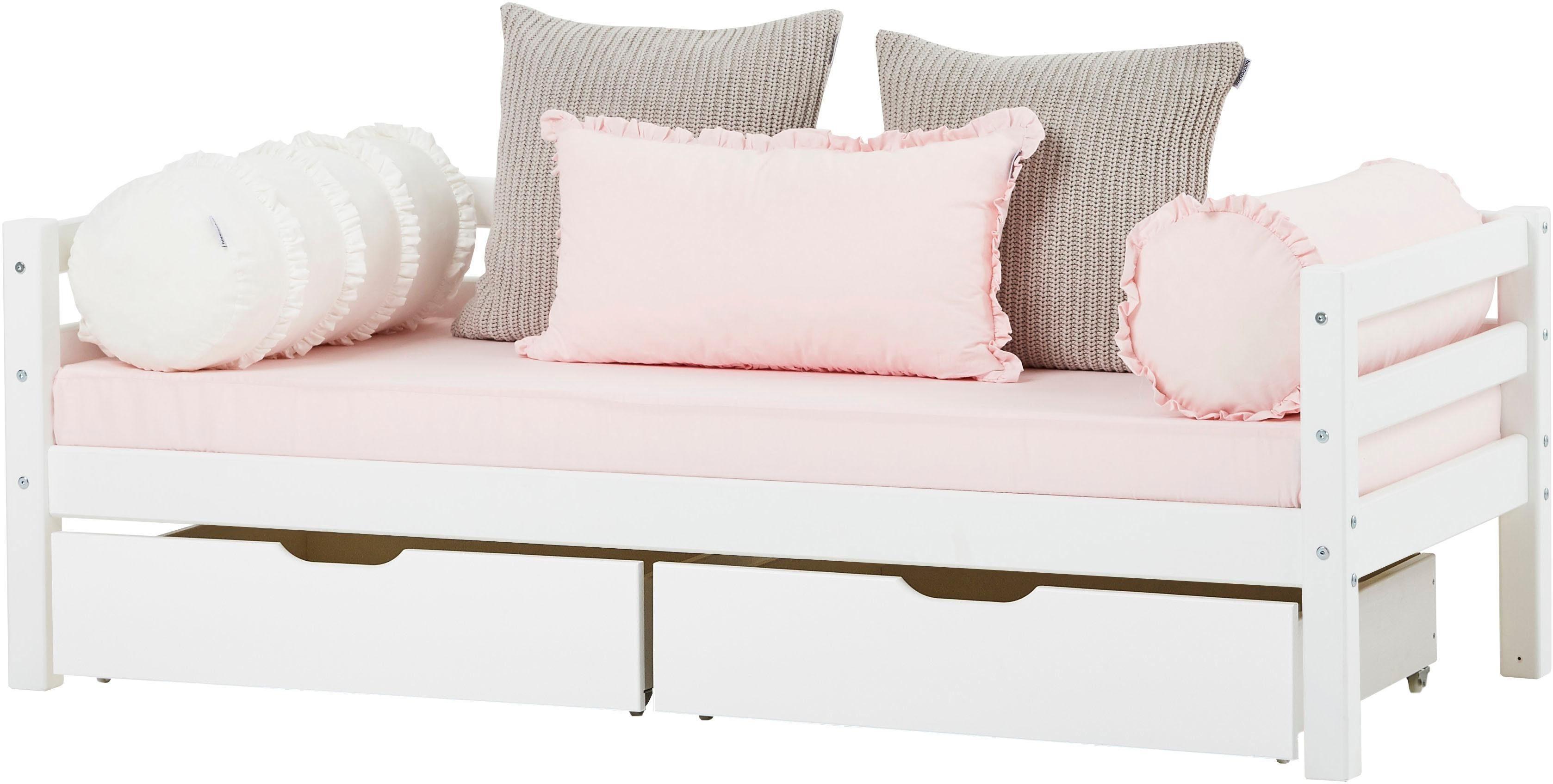 Hoppekids Einzelbett BASIC (Set 2 Teile Bett und Matratzen)