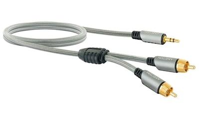 Schwaiger HiFi Audioadapter 2 Chinch-Stecker zu 3,5 mm AUX Klinkenstecker »mit... kaufen
