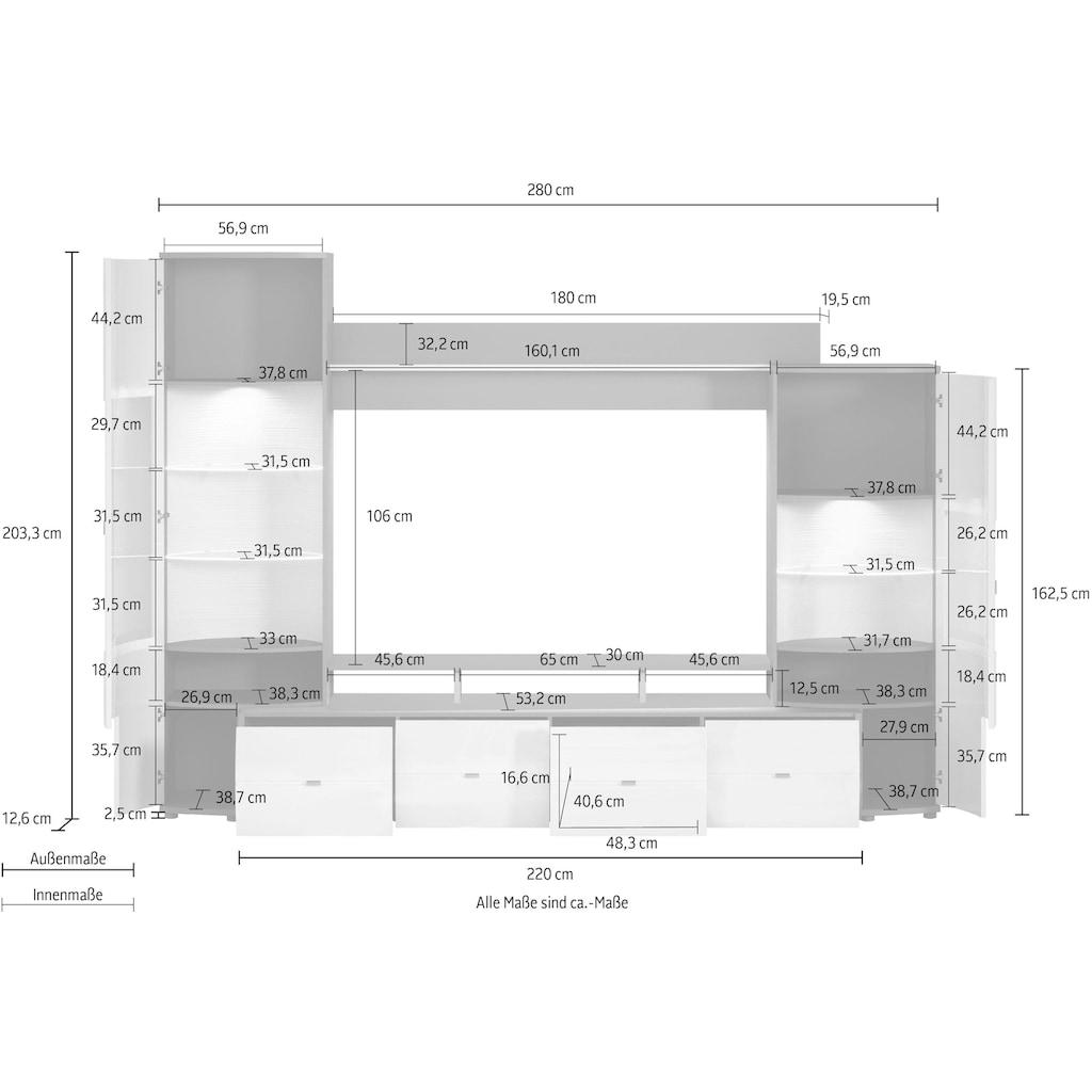 INOSIGN Wohnwand »Gate«, (1 St.), Breite 280 cm