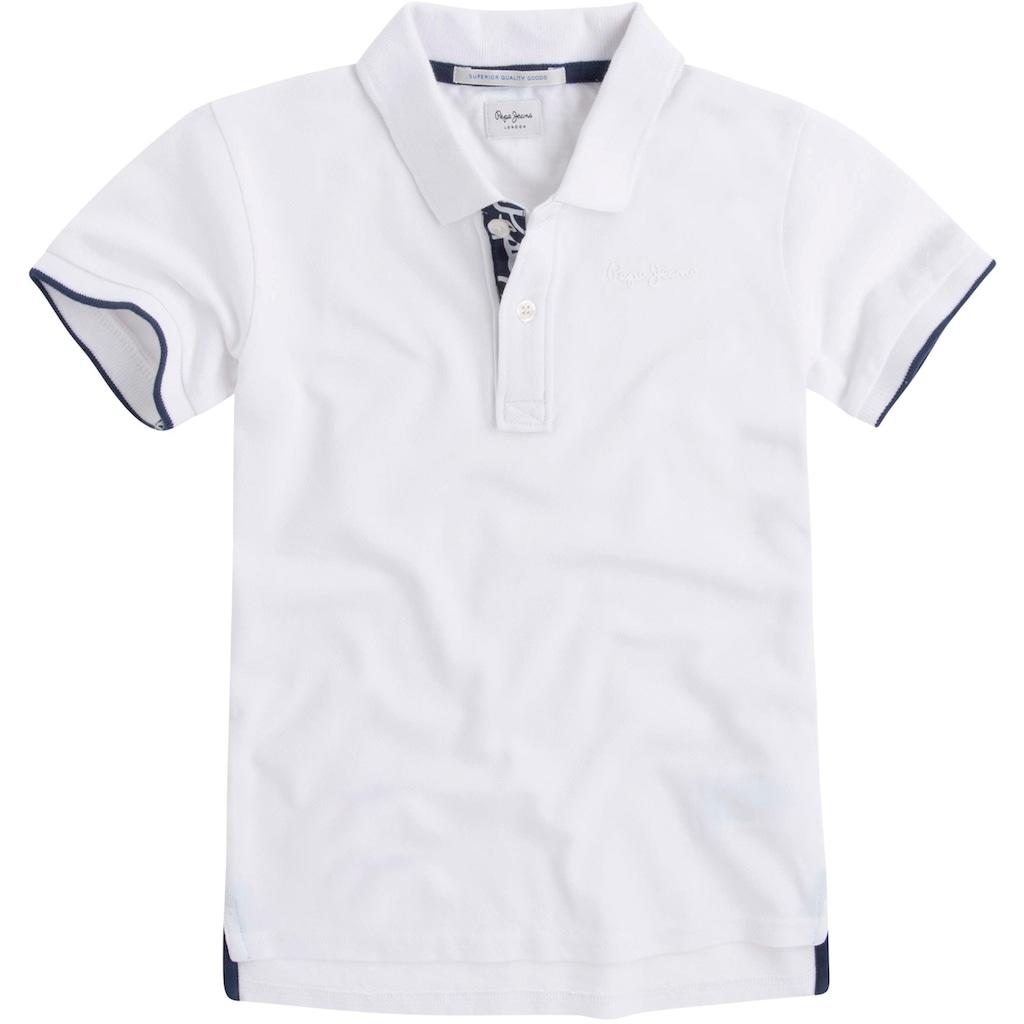 Pepe Jeans Poloshirt »mit kleiner Stickerei«
