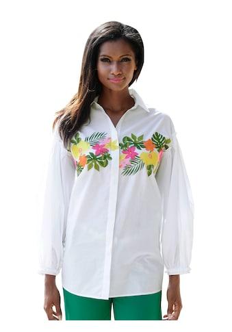 Alba Moda Bluse mit Blumenstickerei kaufen