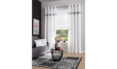 Home affaire Gardine »Kaveri«, Vorhang, Fertiggardine, halbtransparent kaufen