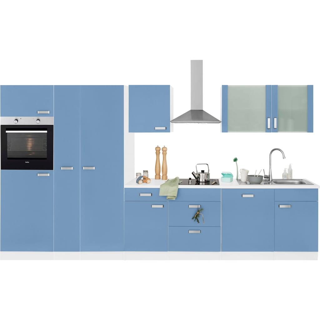 wiho Küchen Küchenzeile »Husum«, mit E-Geräten, Breite 360 cm