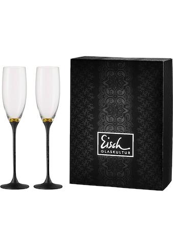 Eisch Sektglas »Champagner Exklusiv«, (Set, 2 tlg.), Echtgoldauflage, Teilveredelung... kaufen