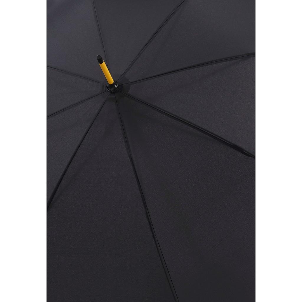 doppler® Stockregenschirm »Fiber Party Automatic, yellow«