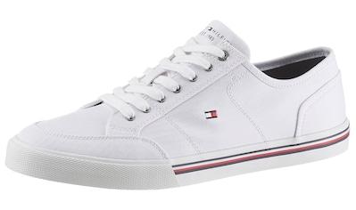 Tommy Hilfiger Sneaker »CORE CORPORATE TEXTILE SNEAKER«, mit gestickter Logoflag kaufen