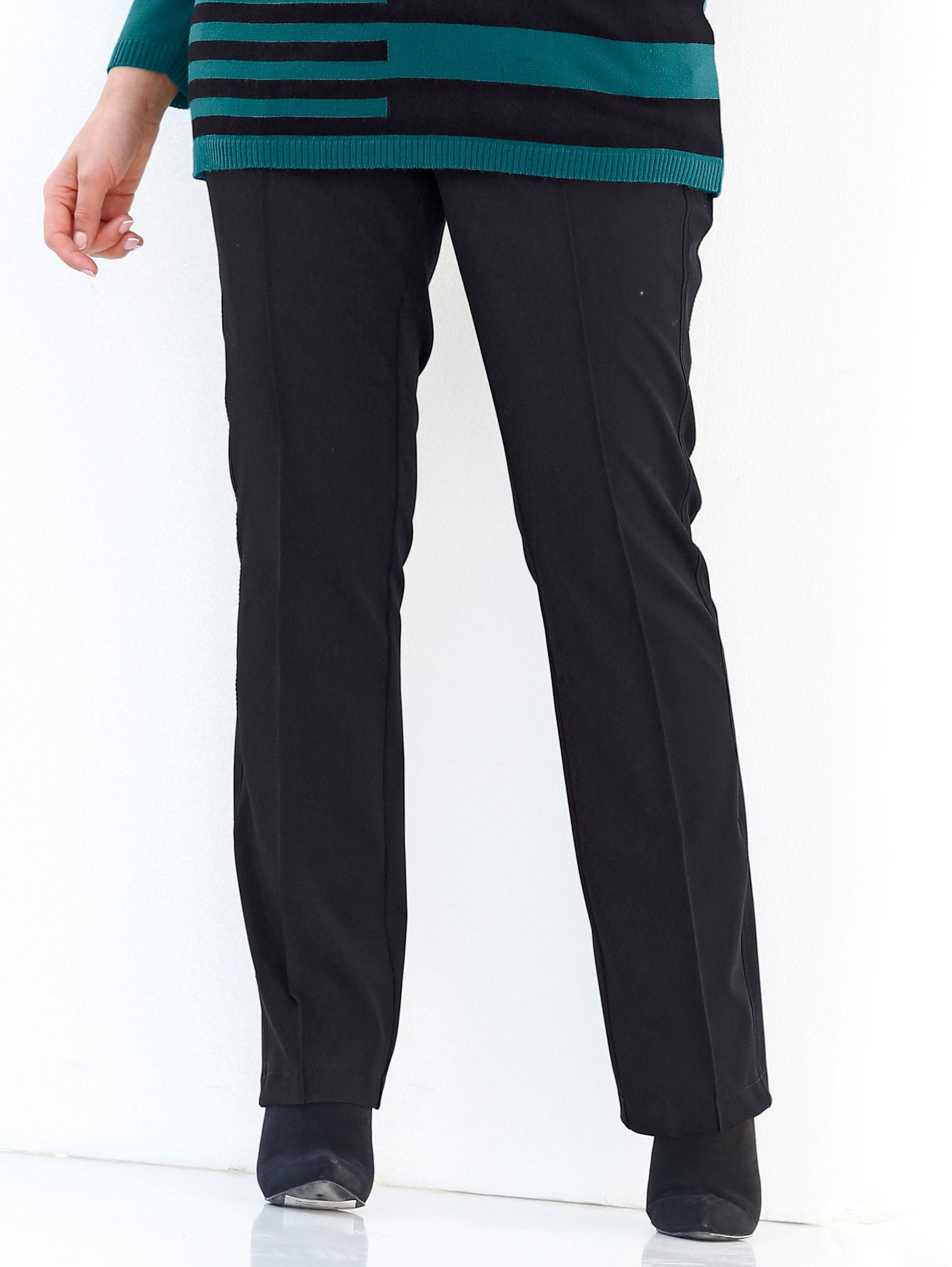 MIAMODA Hose mit Bauchweg-Effekt schwarz Damen Gerade Hosen lang