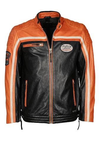 MUSTANG Lederjacke im Bikerstil »Gunner« kaufen