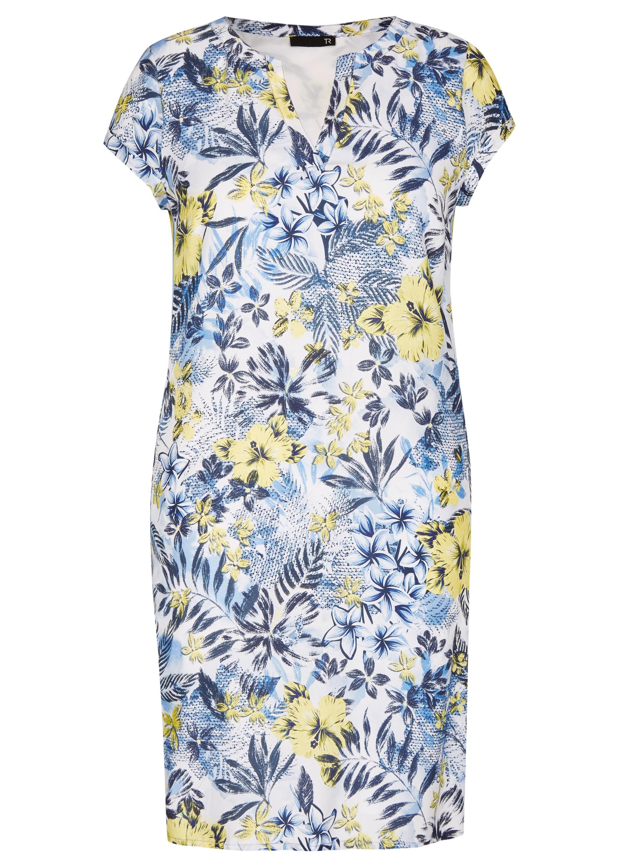 thomas rabe -  Kleid mit Allover-Print und Kappärmeln