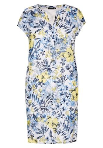 Thomas Rabe Kleid mit Allover-Print und Kappärmeln kaufen
