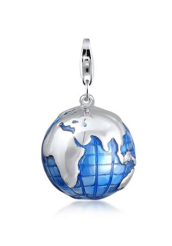 Nenalina Charm-Einhänger »Anhänger Globus Weltkugel Emaille 925 Silber« kaufen