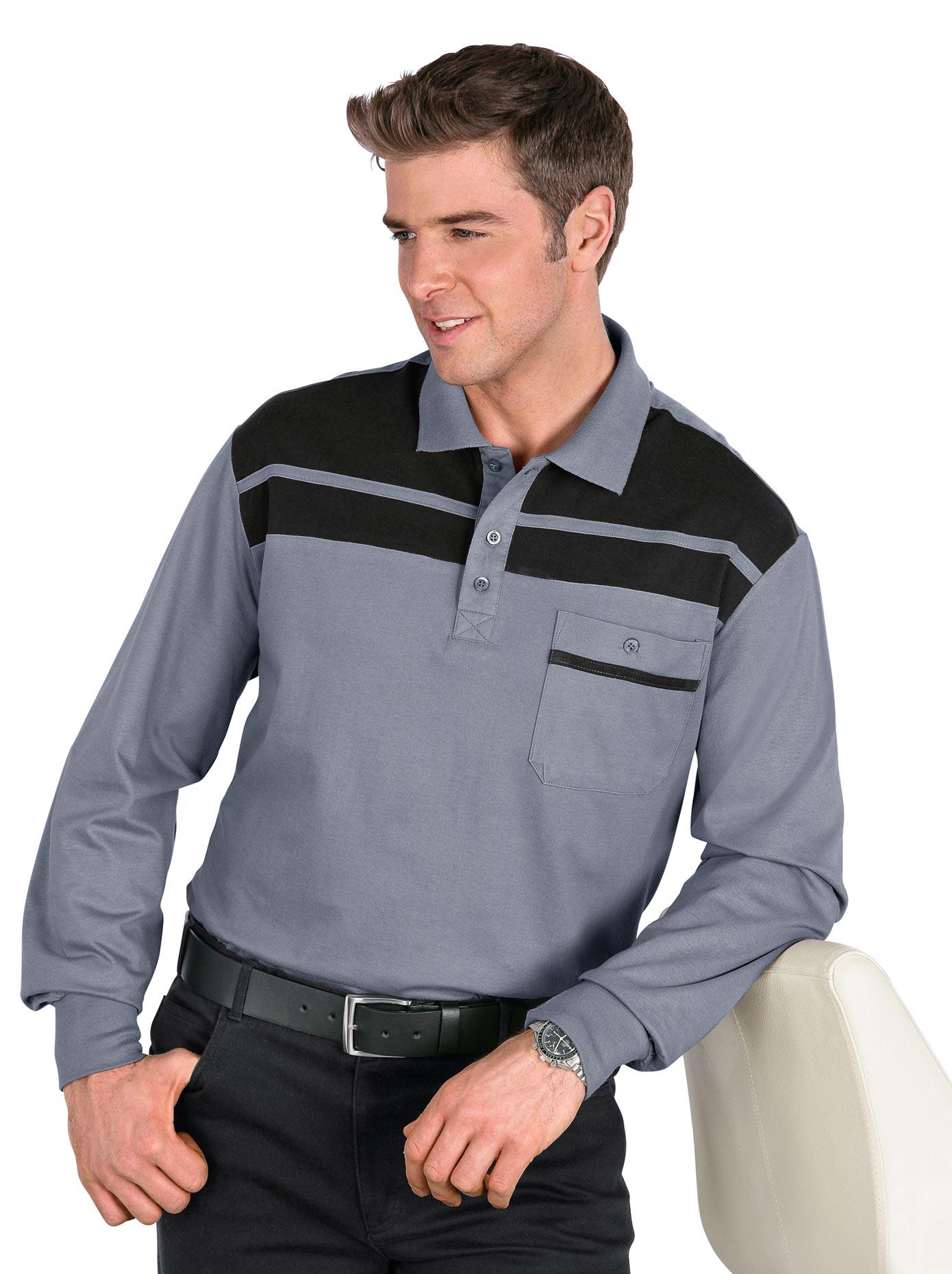 classic -  Langarm-Poloshirt