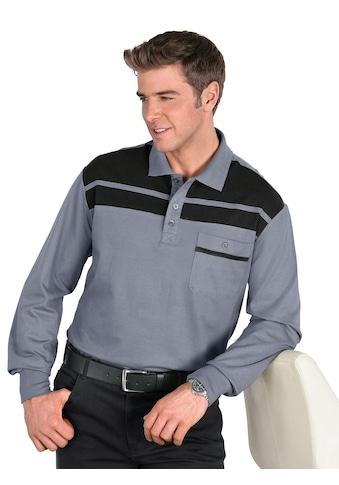 Classic Basics Poloshirt mit Passe und Streifen im Vorderteil kaufen