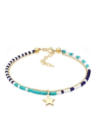 Elli Armband »Layer Stern Astro Beads Erbskette Bunt 925 Silber« kaufen