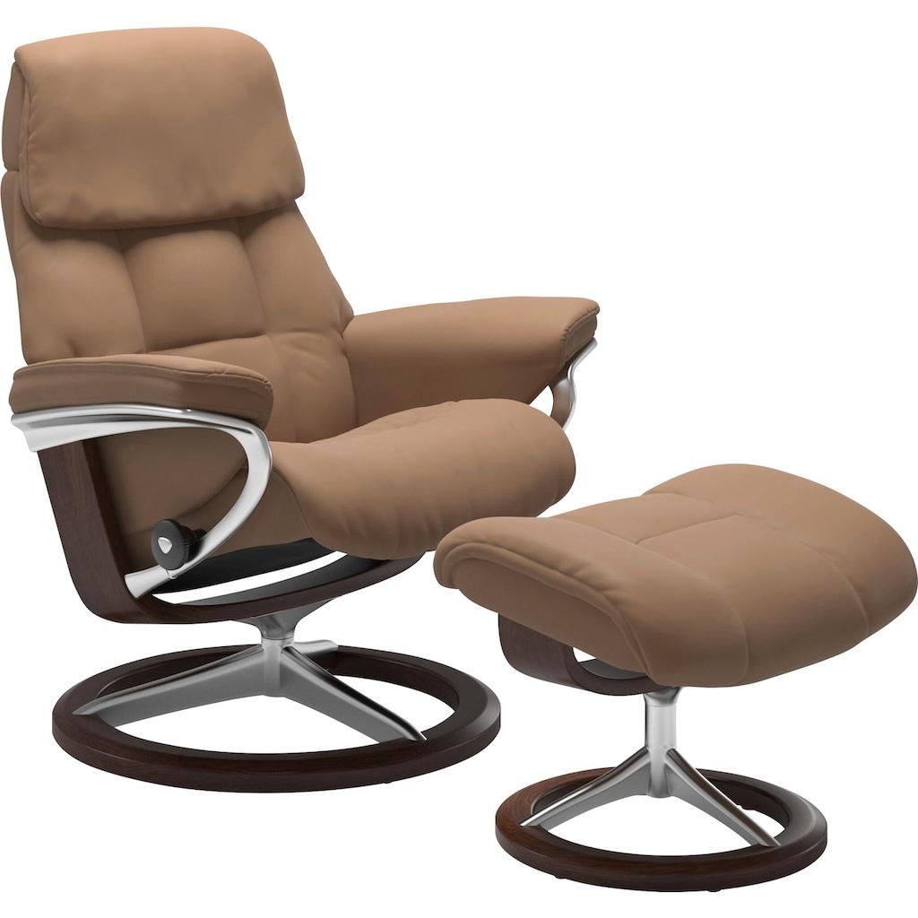 Stressless® Relaxsessel »Ruby«, mit Signature Base, Größe S, Gestell Eiche, Wenge, Braun & Schwarz