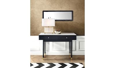 Leonique Schreibtisch »Lyon«, mit zwei Schubladen und Keramik-Oberfläche in Marmoroptik, Schminktisch, Konsolentisch kaufen