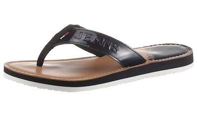 Tommy Jeans Zehentrenner »IRIDESCENT BEACH SANDAL«, in glänzender Optik kaufen