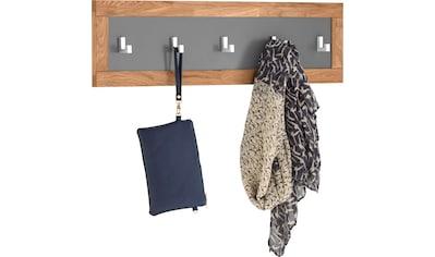 Home affaire Garderobenpaneel »Kristian«, Eiche massiv, mit 5 Haken aus Metall kaufen