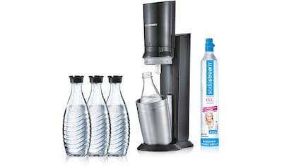 """SodaStream Wassersprudler """"CRYSTAL 2.0 titan"""" (5 - tlg., 1 Wassersprudler, 3 Glaskaraffe, 1 Zylinder) kaufen"""