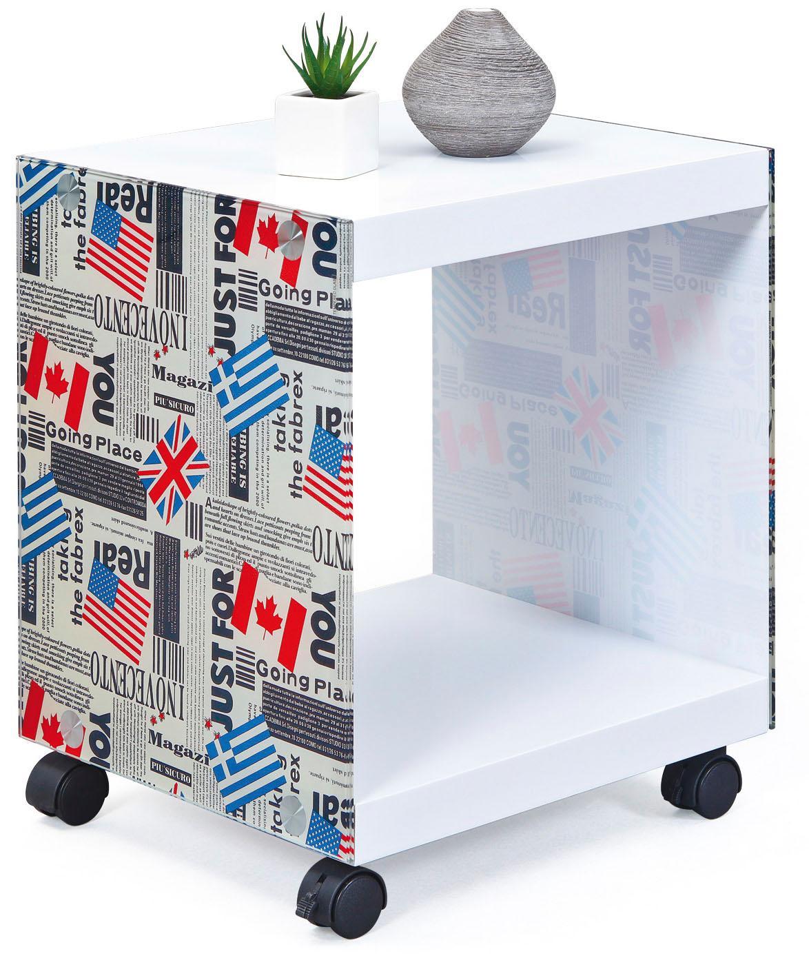 INOSIGN Beistelltisch Cube bunt Servierwagen Kleinmöbel Tisch