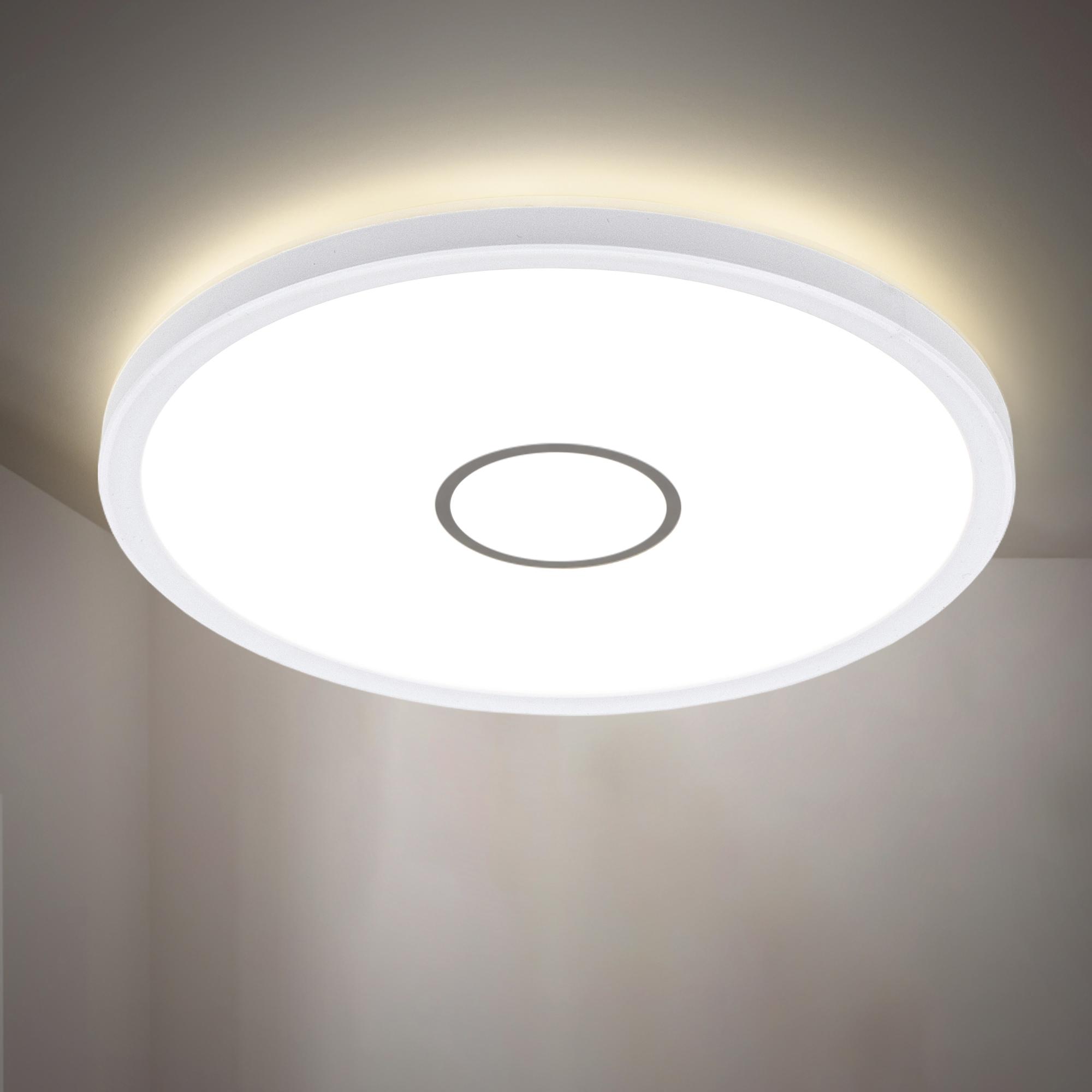 B.K.Licht LED Deckenleuchte, LED-Board, Neutralweiß, LED Deckenlampe ultraflach Panel Wohnzimmer Flur Slim inkl. 18W 2400lm
