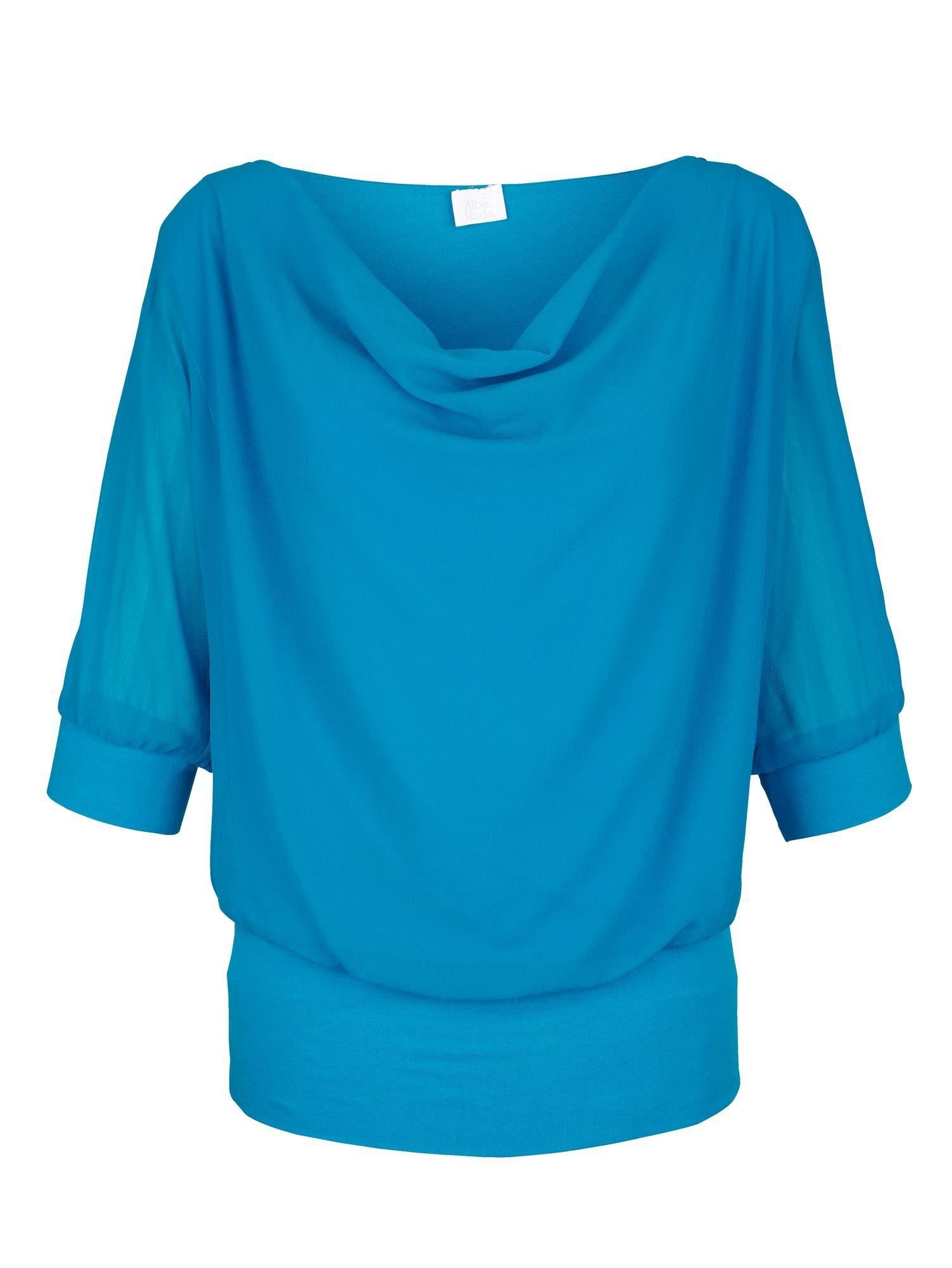 Alba Moda Blusenshirt mit Chiffon-Lage
