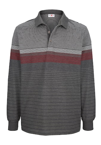 Roger Kent Poloshirt mit garngefärbten Streifenmuster kaufen
