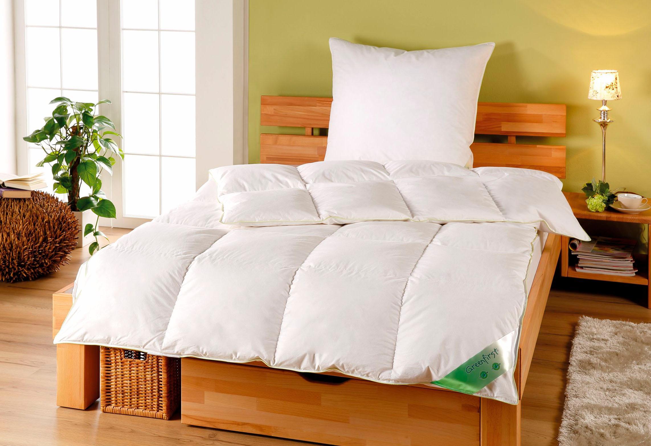 Daunenbettdecke Greenfirst KBT Bettwaren warm Füllung: 60% Daunen 40% Federn Bezug: 100% Baumwolle