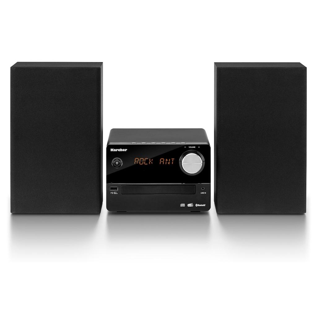 Karcher Stereoanlage »MC 6470D«, (Bluetooth-CD Digitalradio (DAB+) 15 W), mit Bluetooth-mit CD-Player und Bluetooth-mit Bluetooth und CD-Player