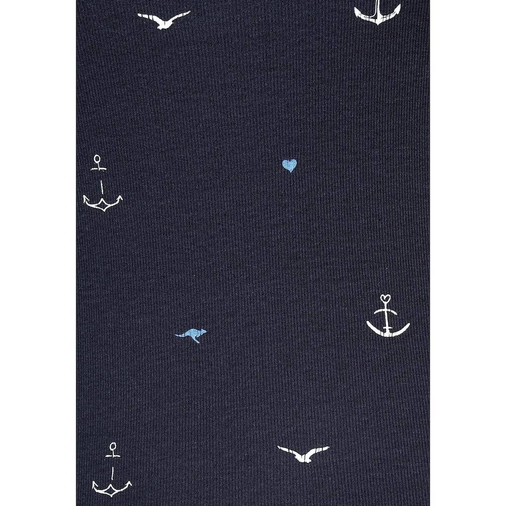 KangaROOS Poloshirt, mit maritimem Allover-Print