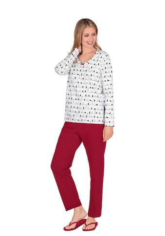 Trigema Bequemer Schlafanzug mit Druck-Motiv kaufen