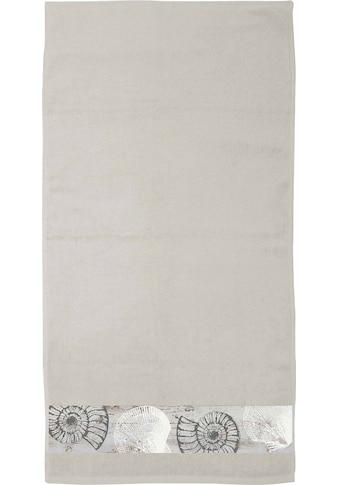 """Castell Handtücher »Marita«, (4 St.), mit Digitaldruckbordüre """"Muschel"""" kaufen"""