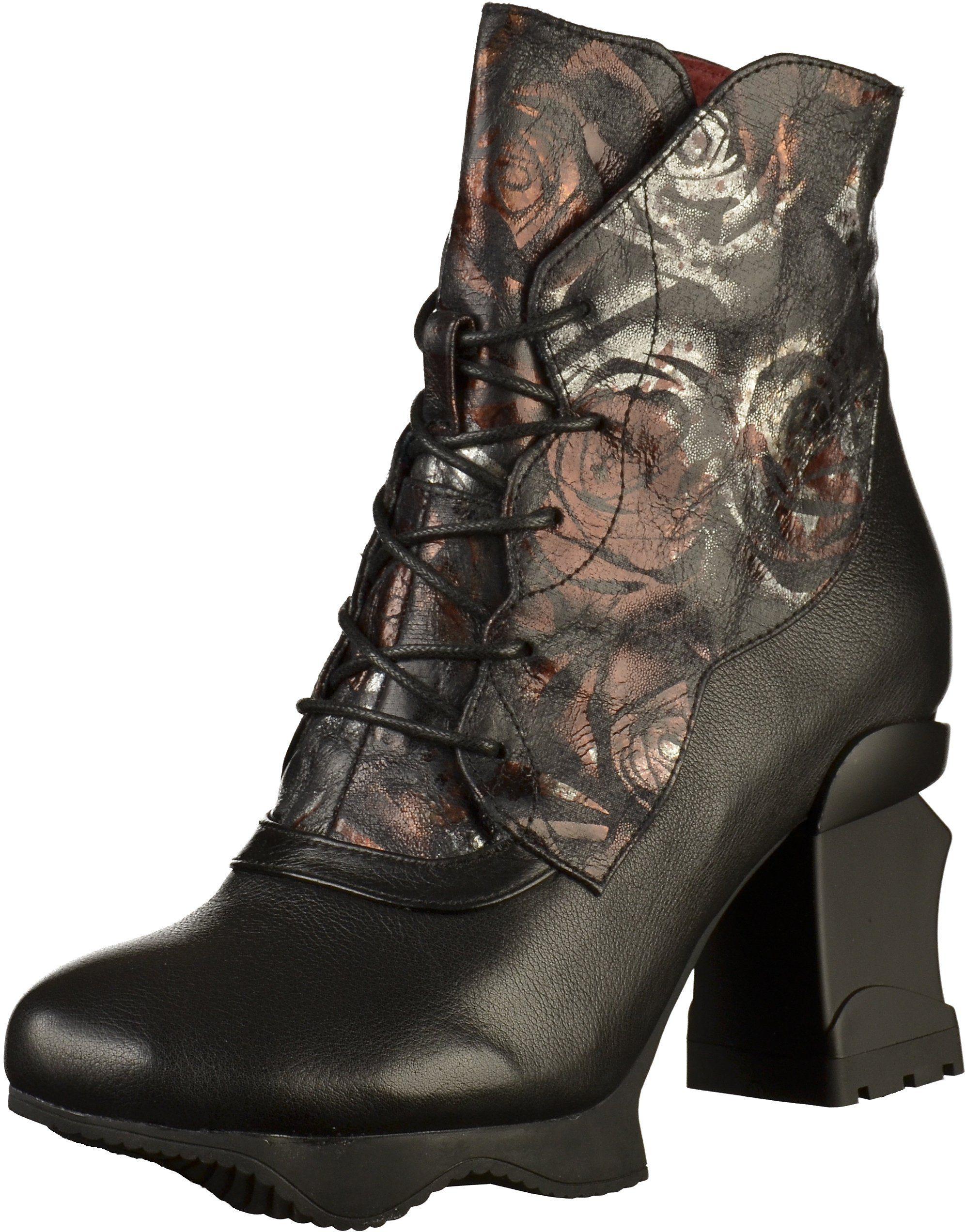 laura vita -  High-Heel-Stiefelette Leder/Textil