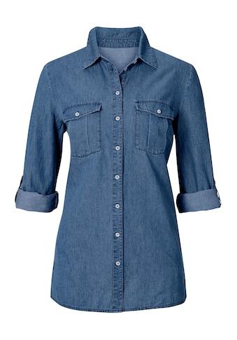 Inspirationen Bluse aus reiner Baumwolle kaufen