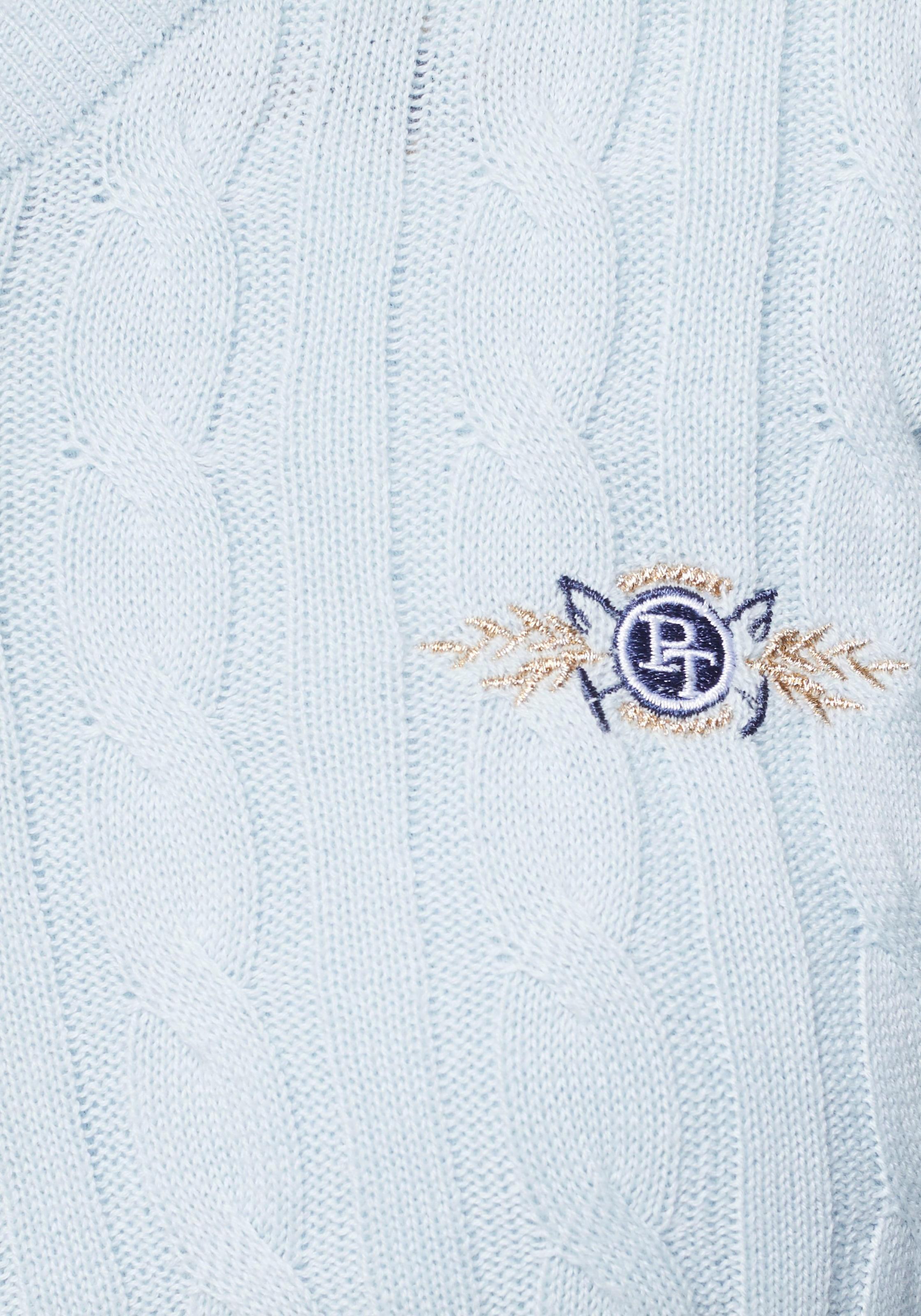 tom tailor polo team vausschnittpullover Klassischer Zopfstrick Pullover von Tom Tailor Polo Team AKLBB690566717