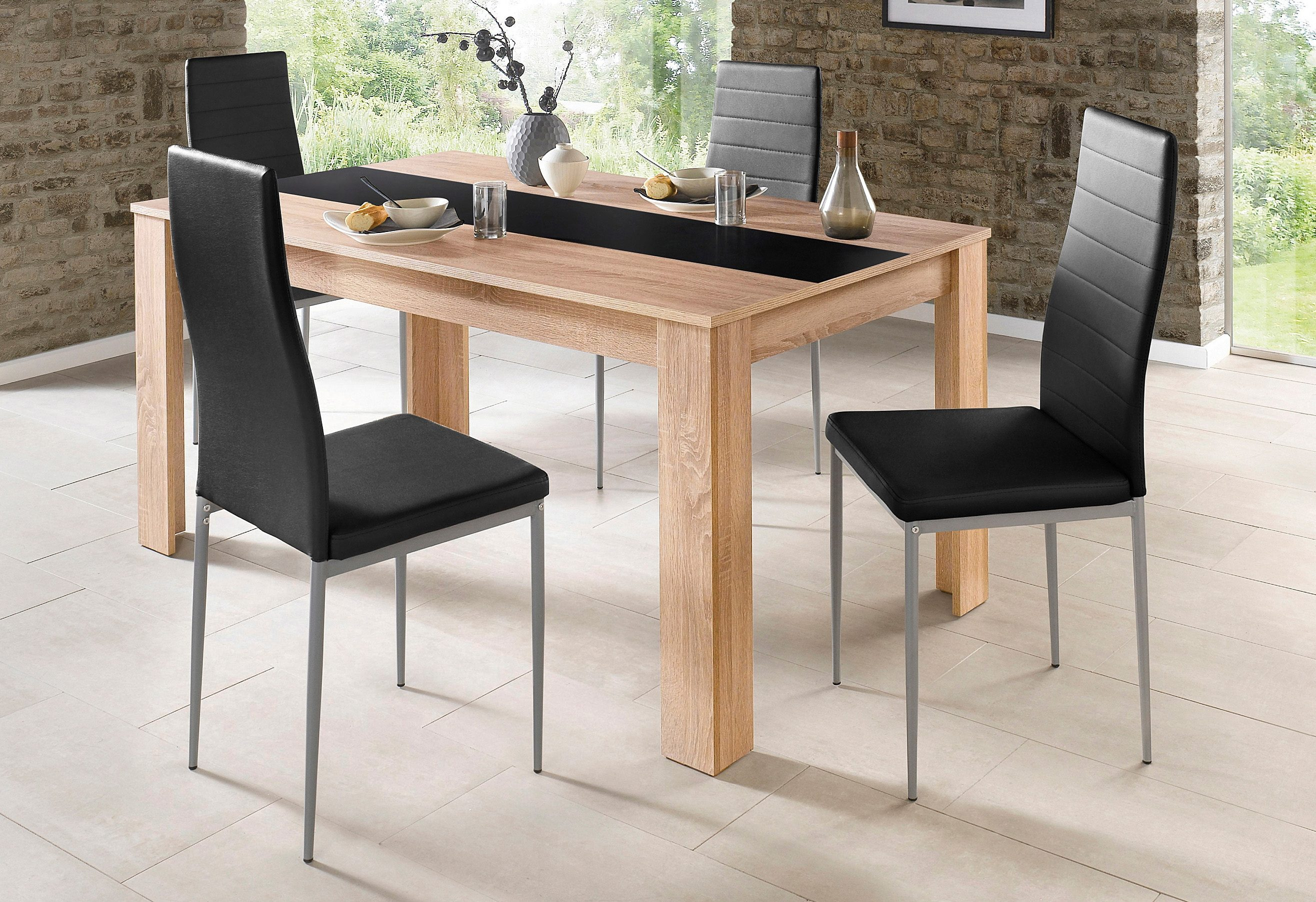 Homexperts Esstisch mit Einlegewendeplatte