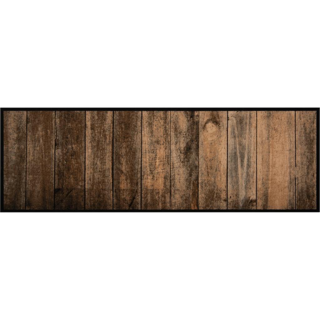 Zala Living Küchenläufer »Wood«, rechteckig, 5 mm Höhe, In- und Outdoor geeignet, waschbar