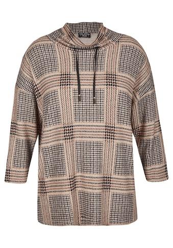 VIA APPIA DUE Sweatshirt, mit Glencheck-Muster kaufen