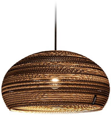 think paper Hängeleuchte Dandy 290, E27, 1 St., schicke Deckenleuchte, Beleuchtung mit Stil, handarbeit, umweltfreundliches Unikat, Deckenlampe