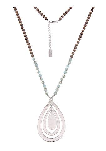 leslii Halskette mit Holz- und Glasperlen kaufen