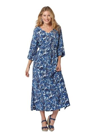 Inspirationen Kleid mit ausdrucksstarkem Blütendessin kaufen