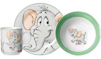 Ritzenhoff & Breker Kindergeschirr-Set »Happy Zoo, Eddie«, (Set, 3 tlg.), mit Elefanten-Dekor kaufen